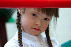 Girl on the playground. Royalty Free Stock Photos