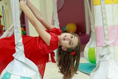 Girl in the playground Stock Image
