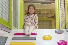 Girl in the playground Royalty Free Stock Photos