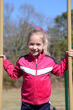 Girl Playground Royalty Free Stock Photography