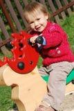 Girl at  playground Royalty Free Stock Photo