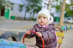 Girl on the playground Royalty Free Stock Images