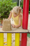 Girl on playground Royalty Free Stock Photos