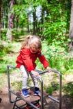 Girl playground stock image
