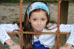 Girl at playground. Cute girl  at the playground Royalty Free Stock Photography