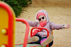 Girl on the playground Royalty Free Stock Photo