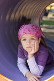 Girl at the playground Royalty Free Stock Photo