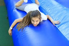 Girl in the playground Royalty Free Stock Photo