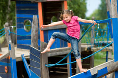 Girl on the playground Stock Photo