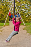 The girl on the playground Royalty Free Stock Photography