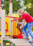 Girl on playground Royalty Free Stock Image