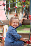 Girl at playground in summer Royalty Free Stock Photos