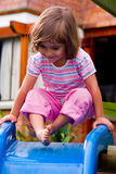 Girl playing Stock Images