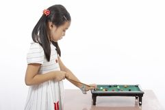 A girl playing Royalty Free Stock Photo