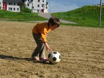 Girl playing Stock Image