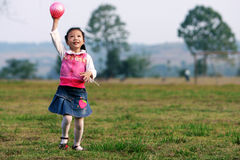 Girl playing ball Royalty Free Stock Photos