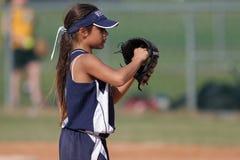 Girl Playing Baseball Royalty Free Stock Photo