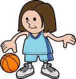 Girl playing basketball Royalty Free Stock Photography