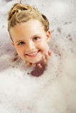 Girl Playing In Bath Stock Photo
