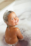 Girl Playing In Bath. Smiling Stock Images