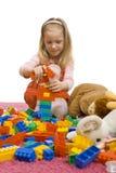 Girl playing blocks Royalty Free Stock Image