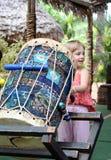 Girl Playing Drum Royalty Free Stock Image