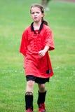 Girl Playing Football Stock Photography