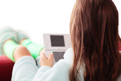 Girl playing game Royalty Free Stock Photos