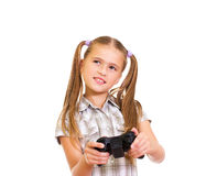 Girl playing game. Stock Photo