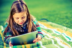 Girl Playing Games Stock Images