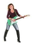 Girl playing guitar Stock Photography