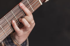 Girl playing guitar series 04 Royalty Free Stock Images