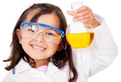 Girl playing at the lab Stock Photos