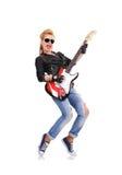 Girl Playing On Guitar Stock Photos
