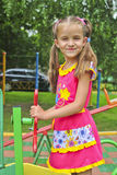 Girl playing on the Playground. Girl playing on Playground - stock photo Royalty Free Stock Images