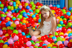 A girl in the playing room Royalty Free Stock Photography