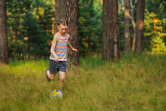 Girl playing in soccer Stock Image