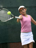 Girl playing tennis. Teenage girl playing tennis Stock Photography