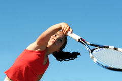 Free Girl Playing Tennis Royalty Free Stock Images - 148399