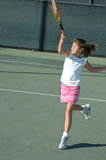 Girl playing tennis 2 Royalty Free Stock Photos