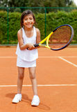 Girl playing tennis Royalty Free Stock Photography