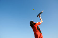 Girl playing tennis Royalty Free Stock Photo
