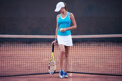 Girl playing in tennis Royalty Free Stock Photography