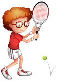 A girl playing tennis Stock Photos