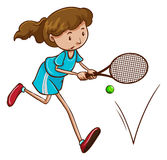 A girl playing tennis Royalty Free Stock Images