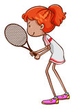 A girl playing tennis Royalty Free Stock Photography