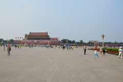 Girl Playing in Tiananmen Square Royalty Free Stock Photos