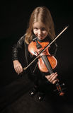 Girl Playing Violin Stock Image
