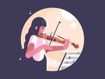 Girl playing violin Royalty Free Stock Photos