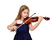 Girl playing the violin o Royalty Free Stock Image